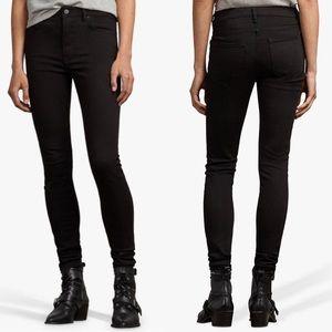 ALL SAINTS stilt skinny black jeans